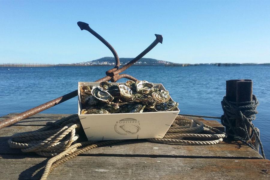 Une bourriche de nos huîtres